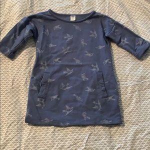 Old navy dress with bird pattern